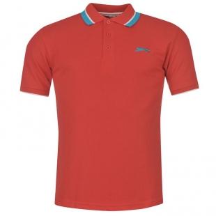 Slazenger Tipped Pánské tričko, červené