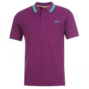 Slazenger Tipped pánské tričko, fialové
