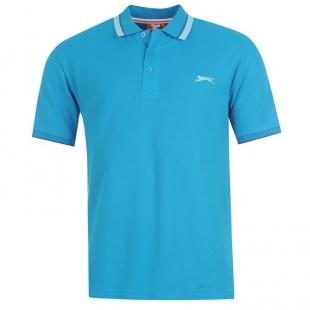 Slazenger Tipped pánské tričko, modré