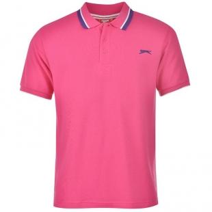 Slazenger Tipped pánské tričko, růžové