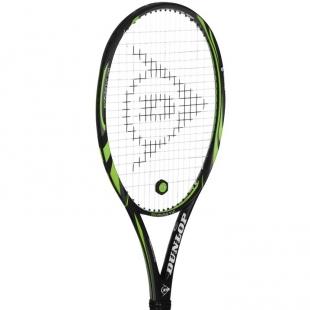 Tenisová raketa Dunlop černo-zelená