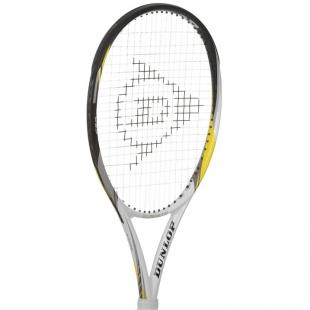 Tenisová raketa Dunlop bílo-černo-šedá