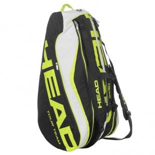 Tenisová taška Head bílo-žluto-černá