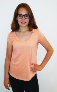 Dámské triko Terranova, oranžové