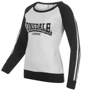Dámská mikina Lonsdale, bílo-černá