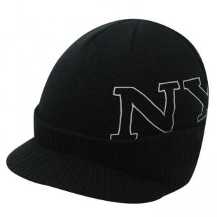 Pánská zimní čepice New York Peak, černá