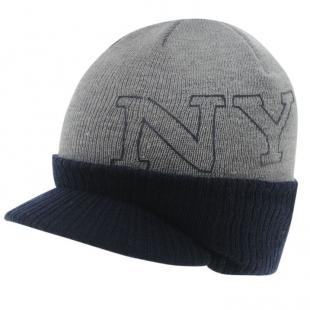 Pánská zimní čepice New York Peak, šedá
