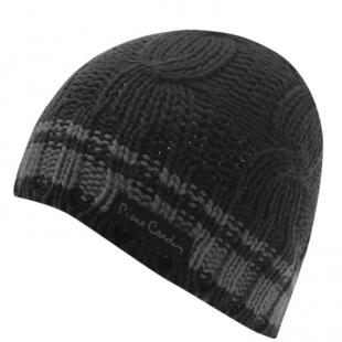Pánská zimní čepice Pierre Cardin Knit Beanie, černá