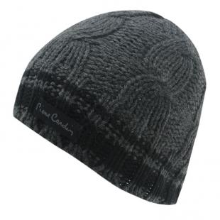 Pánská zimní čepice Pierre Cardin Knit Beanie, šedá