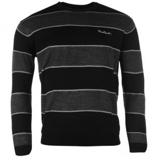 Pánský svetr Pierre Cardin Big Stripe Knitted, černý