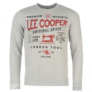 Pánská mikina Lee Cooper, bílá