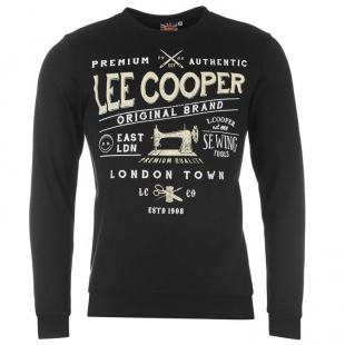 Pánská mikina Lee Cooper, černá