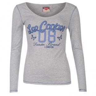 Dámské triko s dlouhým rukávem  Lee Cooper Cooper, šedé