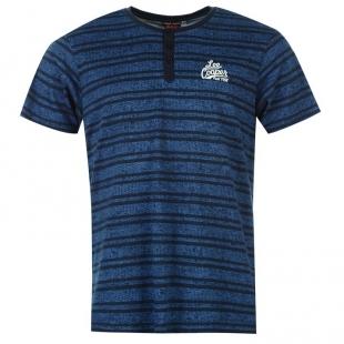 Pánské triko Lee Cooper, modré, pruhované