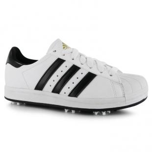 Adidas - Pánské boty superstar na golf, bíločerné