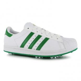 Adidas - Pánské boty superstar na golf, bílozelené