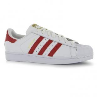 Adidas - Pánské boty superstar, bíločervené