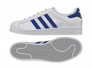 Adidas - Pánské boty superstar FOUNDATION , bílomodré