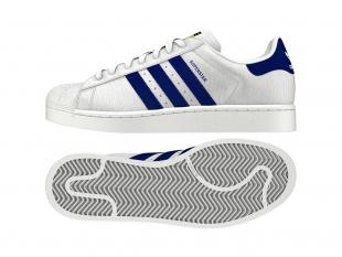 Adidas - Pánské boty superstar ANIMAL, bílomodré