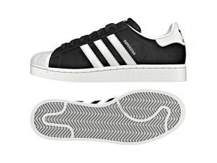 Adidas - Pánské boty superstar SUEDE, černobílé