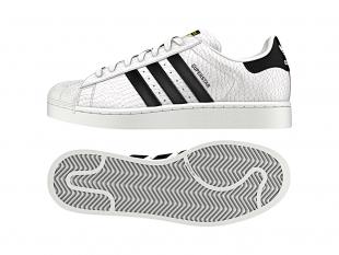 Adidas - Pánské boty superstar ANIMAL, bíločerné