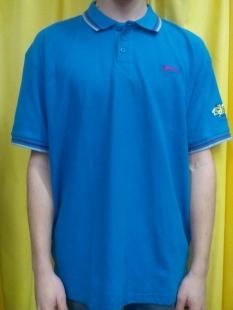 Pánské polo triko Slazenger, modré s potiskem VSPORT