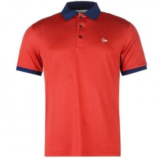 Pánské Polo Dunlop - Červenomodré